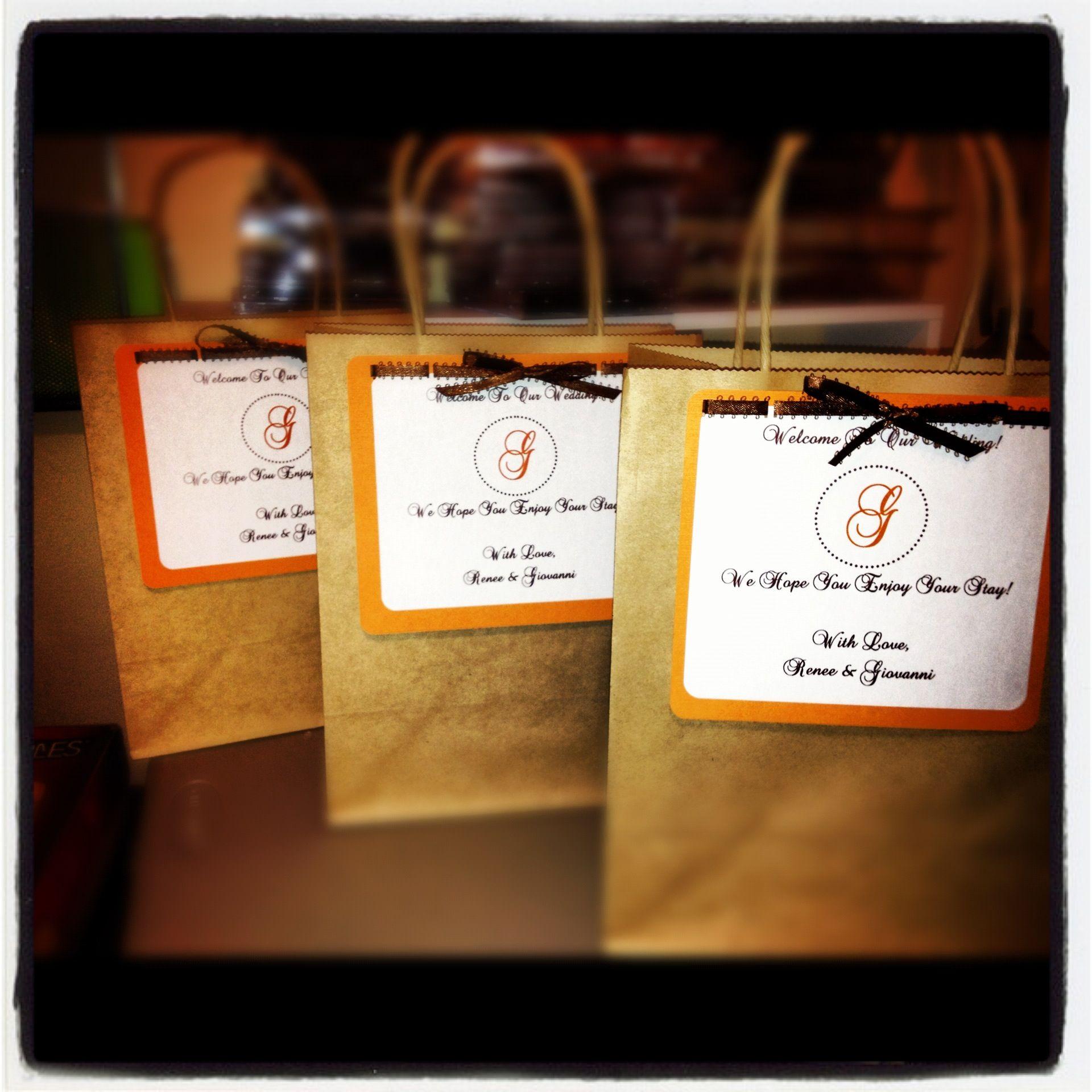 handmade wedding 'overnight' bags for guests... ShellieKCrafts design 2012