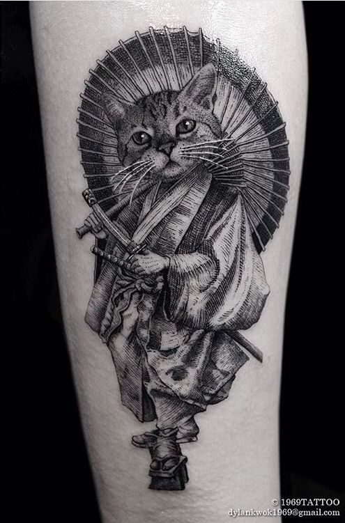 55df22f61 Image result for samurai cat tattoo | Drawings | Cat tattoo, Samurai ...