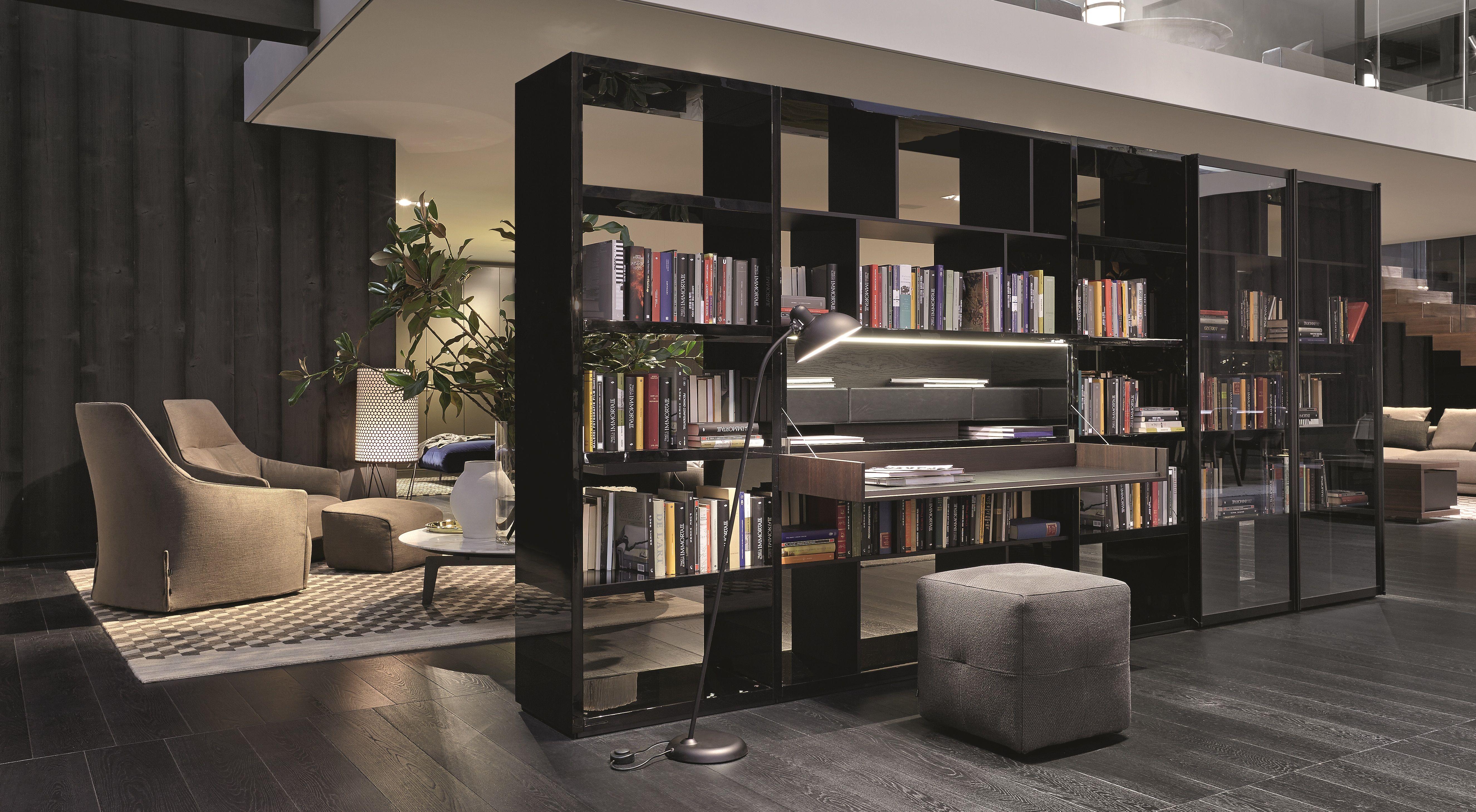 Pouf Soggiorno ~ Poliformvarenna wall system bookshelf and onda pouf details