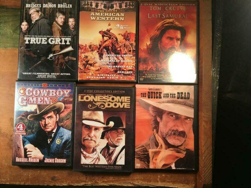 Lot Of 11 Western Dvd True Grit Lonesome Dove Cowboy G Men More