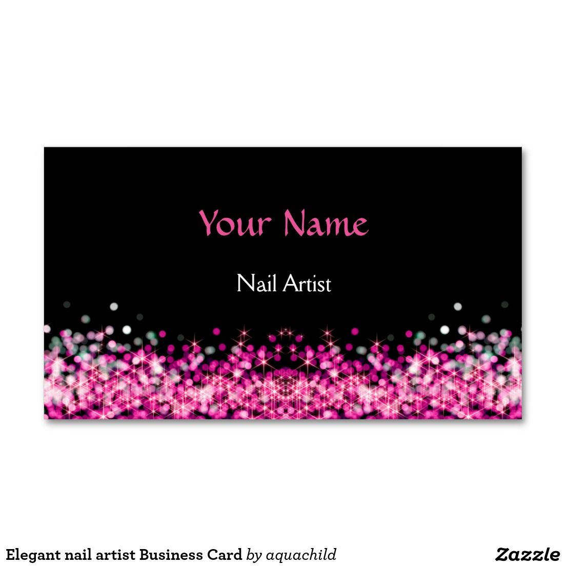 Elegant nail artist Business Card | Customized Nail Salon Business ...