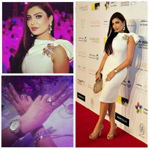 Amal Alawadhi Is Wearing A Dsquared Dress Van Cleef Arpels Jewellery At The Global Gift Gala At The 2014 Dubai Film Festiva Dress Up Bodycon Dress Fashion