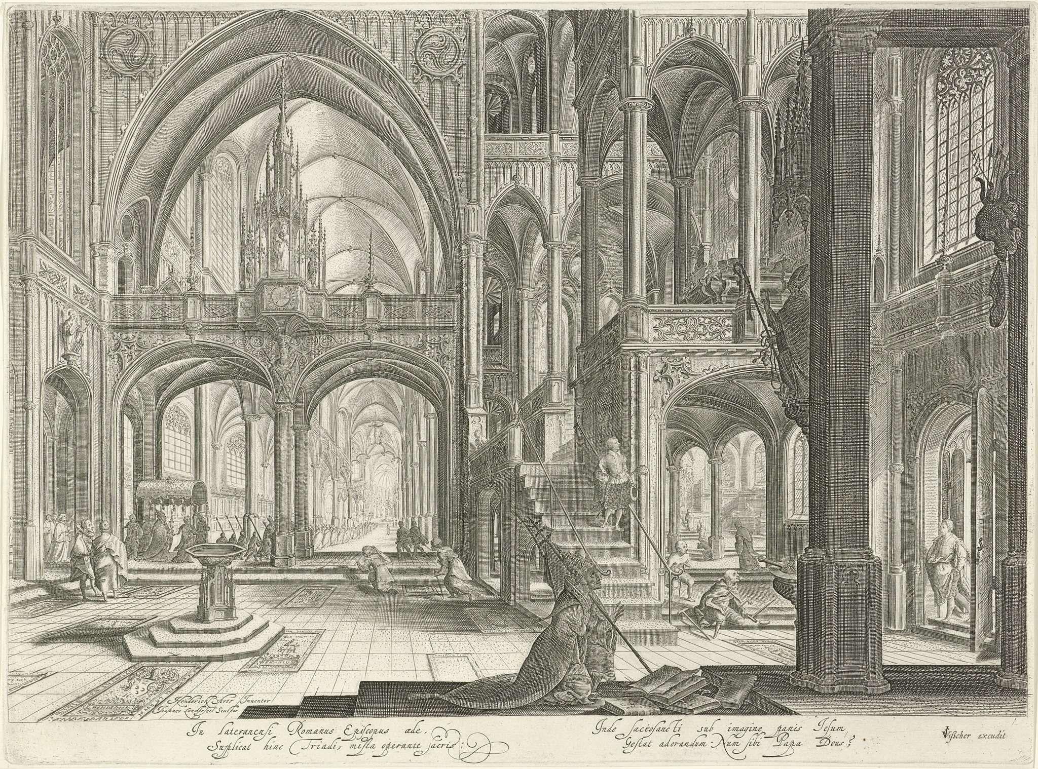 Jan van Londerseel | Interieur van de Sint-Jan van Lateranen te Rome ...