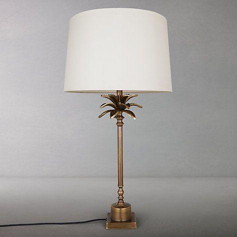 India Jane Palm Leaf Stick Lamp Base, Table Lamps India Jane