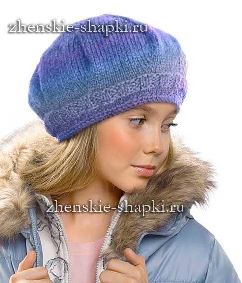 Вязание шапок спицами
