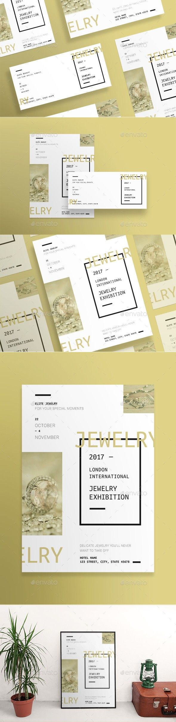 Jewelry exhibition flyers pinterest exhibitions and flyer template stopboris Choice Image