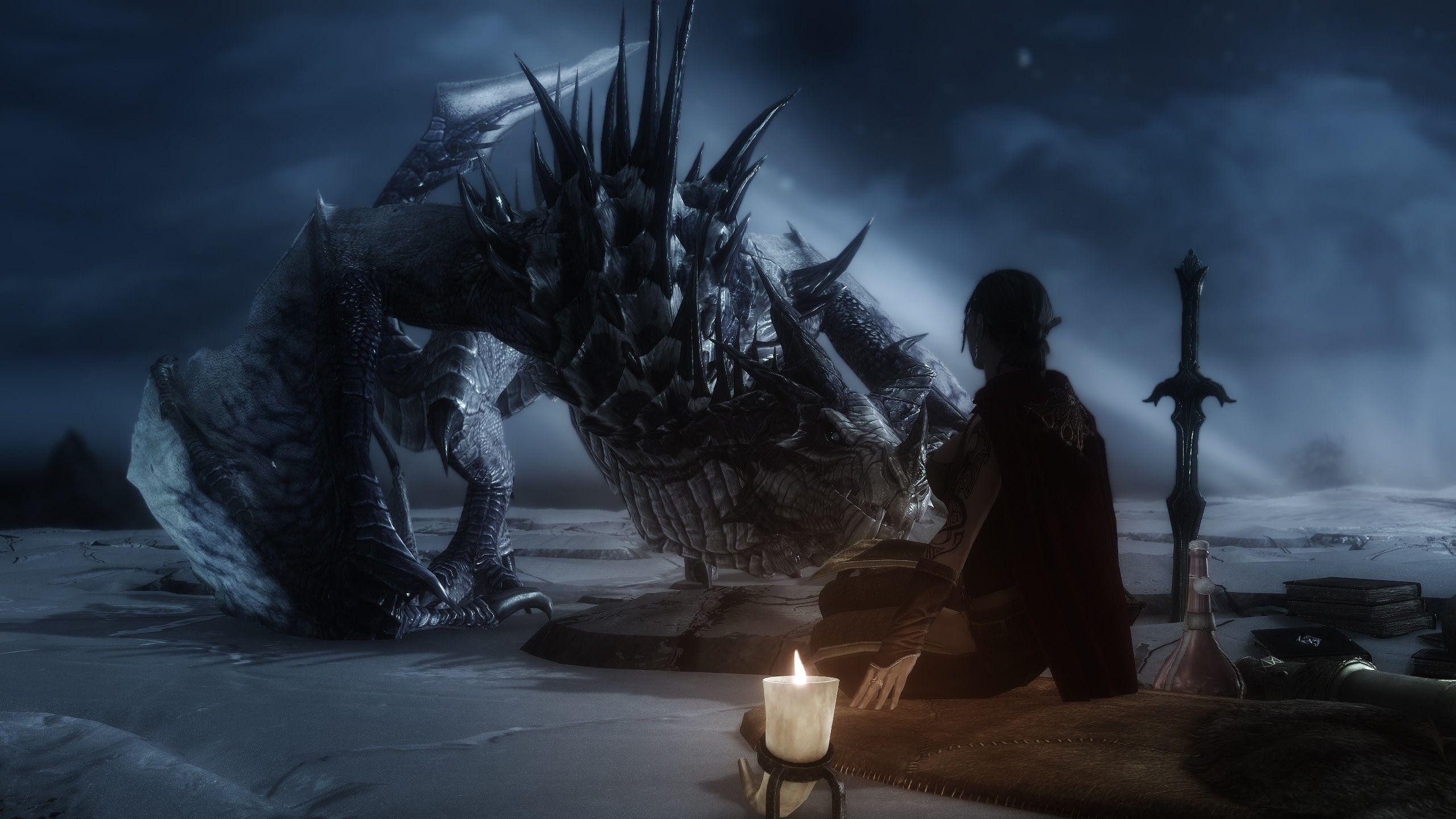 The Elder Scrolls V Skyrim Dragon Wallpapers Hd Desktop And
