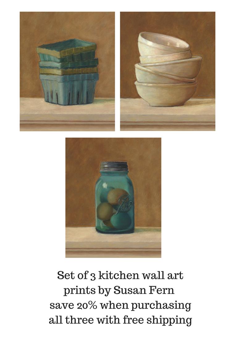 Kitchen wall art set of kitchen prints set of set of prints