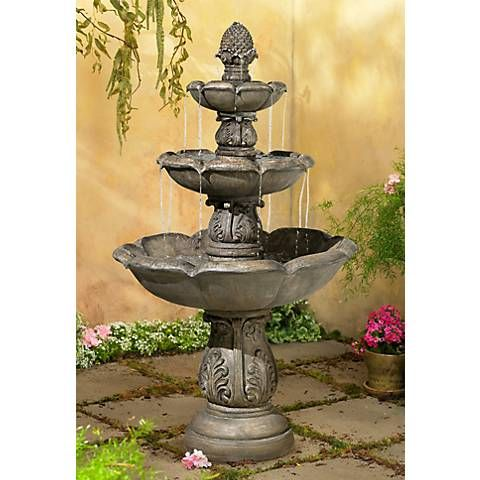Browning Three Tier 65 High Traditional Fountain 3k499 Lamps Plus Fountains Backyard Fountains Outdoor Garden Fountains