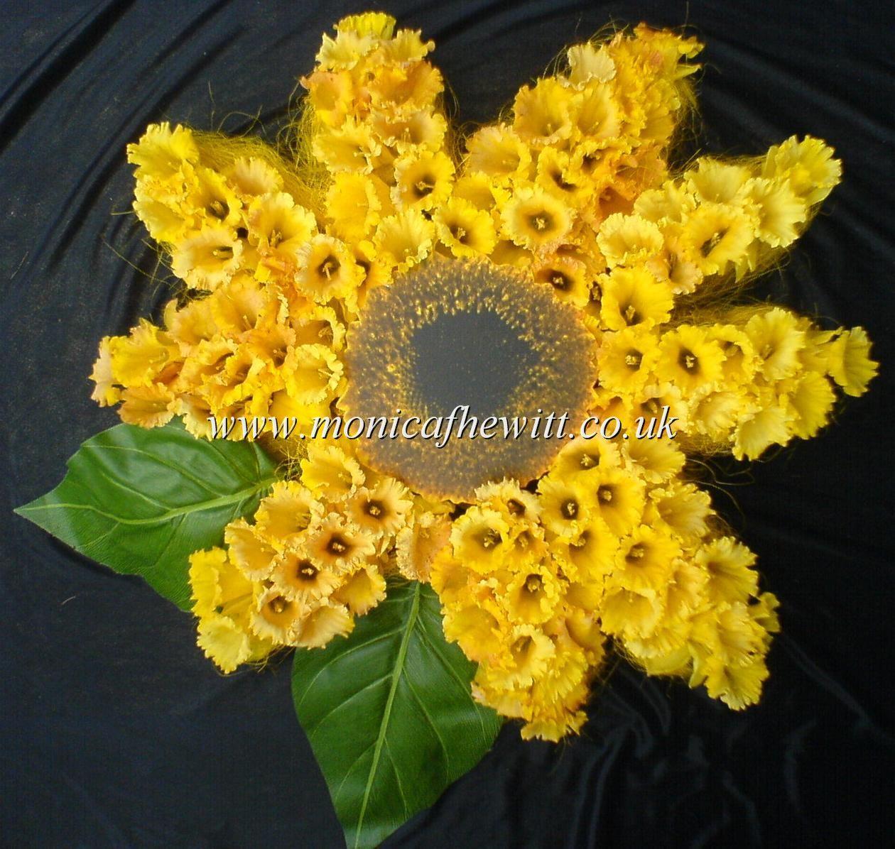 Sunflower funeral flowers monica f hewitt florist sheffield floral sunflower funeral flowers monica f hewitt florist sheffield izmirmasajfo