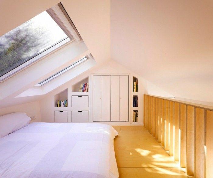 schlafzimmer einrichten mit dachschräge minimlistisches interieur - ideen schlafzimmer mit dachschrage