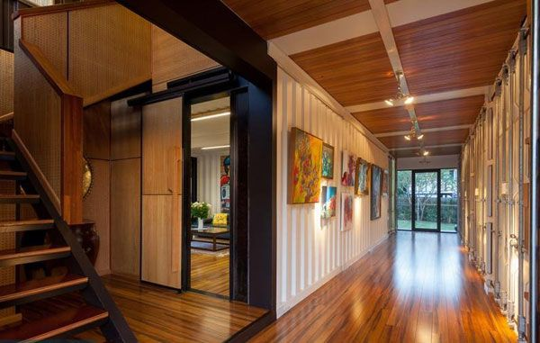 shipping container house inside