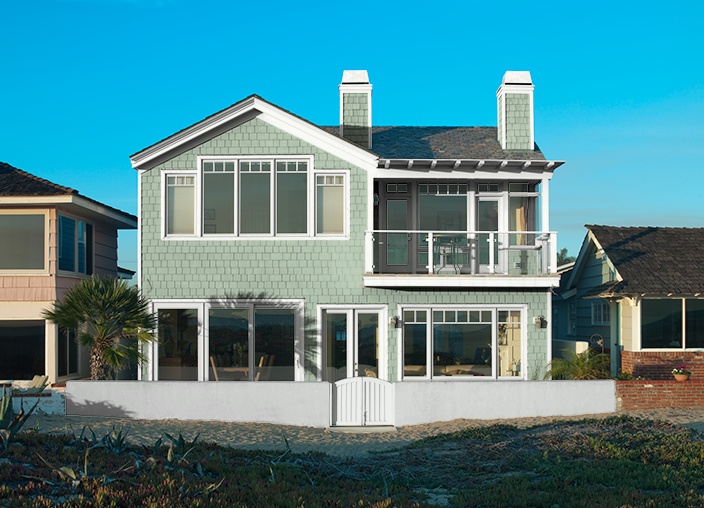 This is the project i created on i used these colors azalea leaf s400 4 healing aloe for Behr virtual exterior house painter