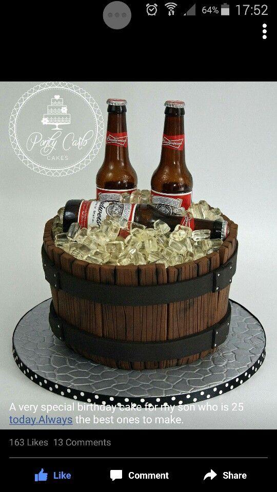 Beer Bucket Birthday Beer Cake Beer Bottle Cake Beer Barrel Cake