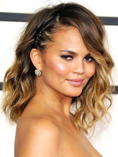 Resultado De Imagen De Peinados Media Melena Con Un Lado Recogido Peinado De Fiesta Cabello Corto Peinados Con Ondas Media Melena Peinados