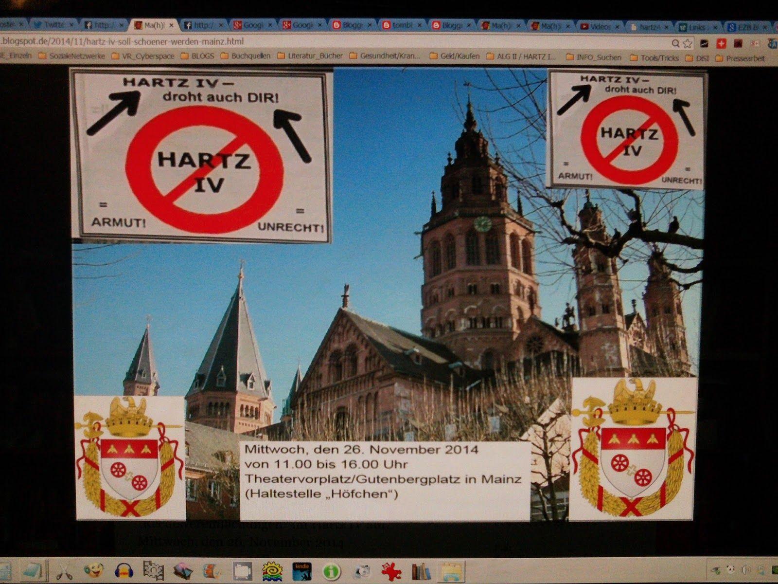 Doku #HartzIV - Kundgebung #Rechtsvereinfachungen #Mainz im Blog:
