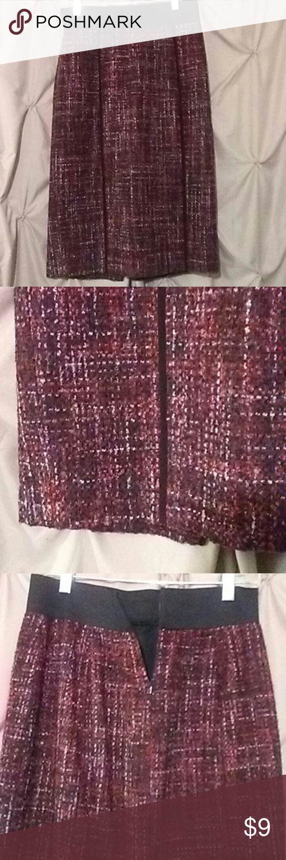 Halogen sz.8. Tweed skirt Multi colored light wool like skirt ..soft Halogen Skirts Midi