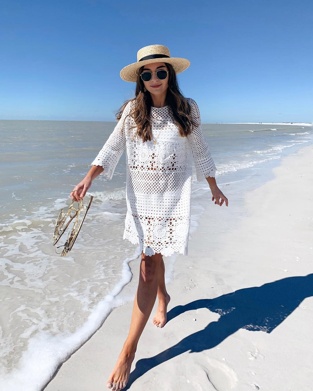 25fe75648d White crochet beach cover up by Lulus #beachbabe #beachbum #beachstyle # beachcoverup #beachlook #vacayoutfit #vacaystyle #vacayoutfits  #vacayfashion ...
