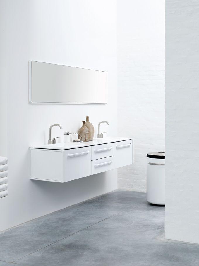 Functional Minimalist White Bathroom Furniture   DigsDigs