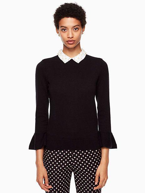 d160faaa44fc Kate Spade Pearl Collar Sweater