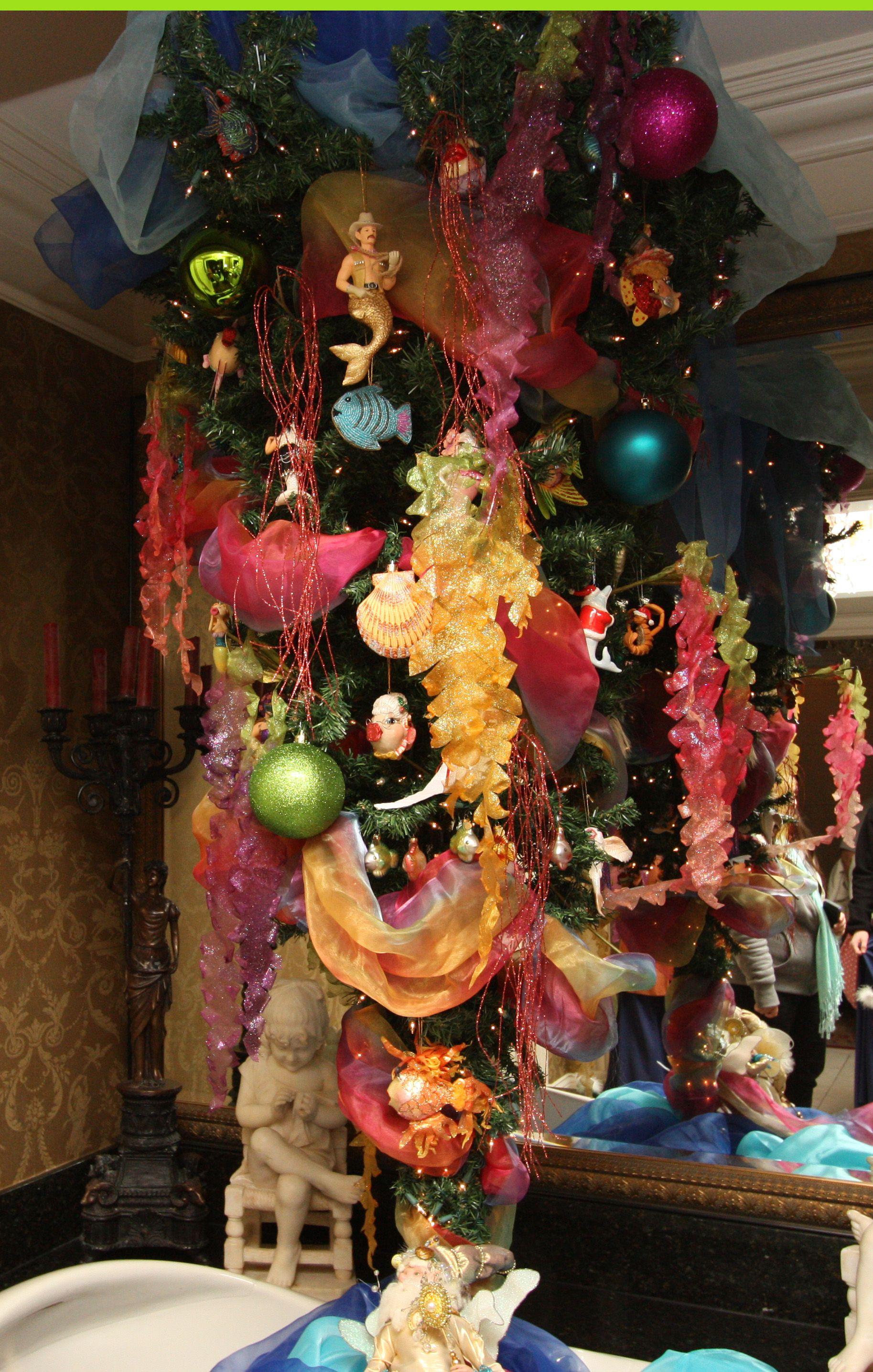 Underwater Themed Christmas Tree Christmas Tree Themes Christmas Tree Christmas Tree Decorations