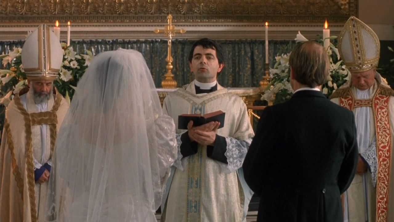 Image result for rowan atkinson in 4 weddings