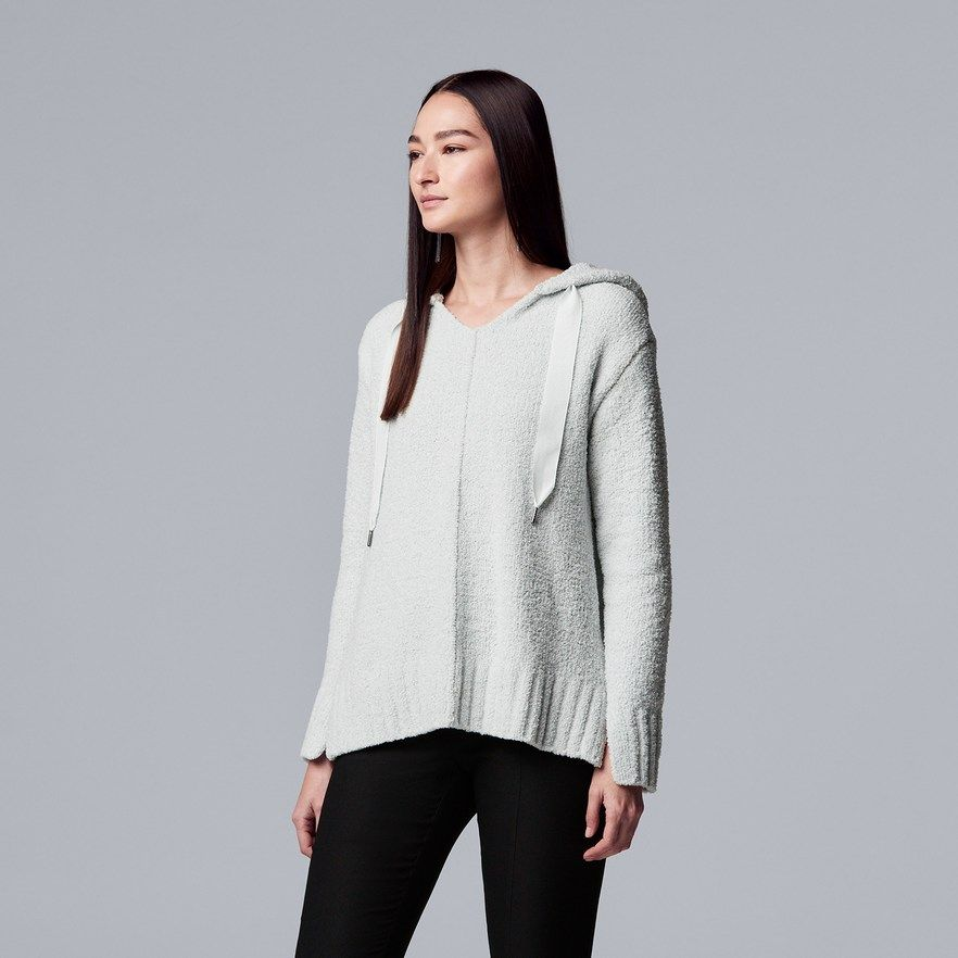 abe1428632d6be Women's Simply Vera Vera Wang French Terry Hooded Sweater   Products ...