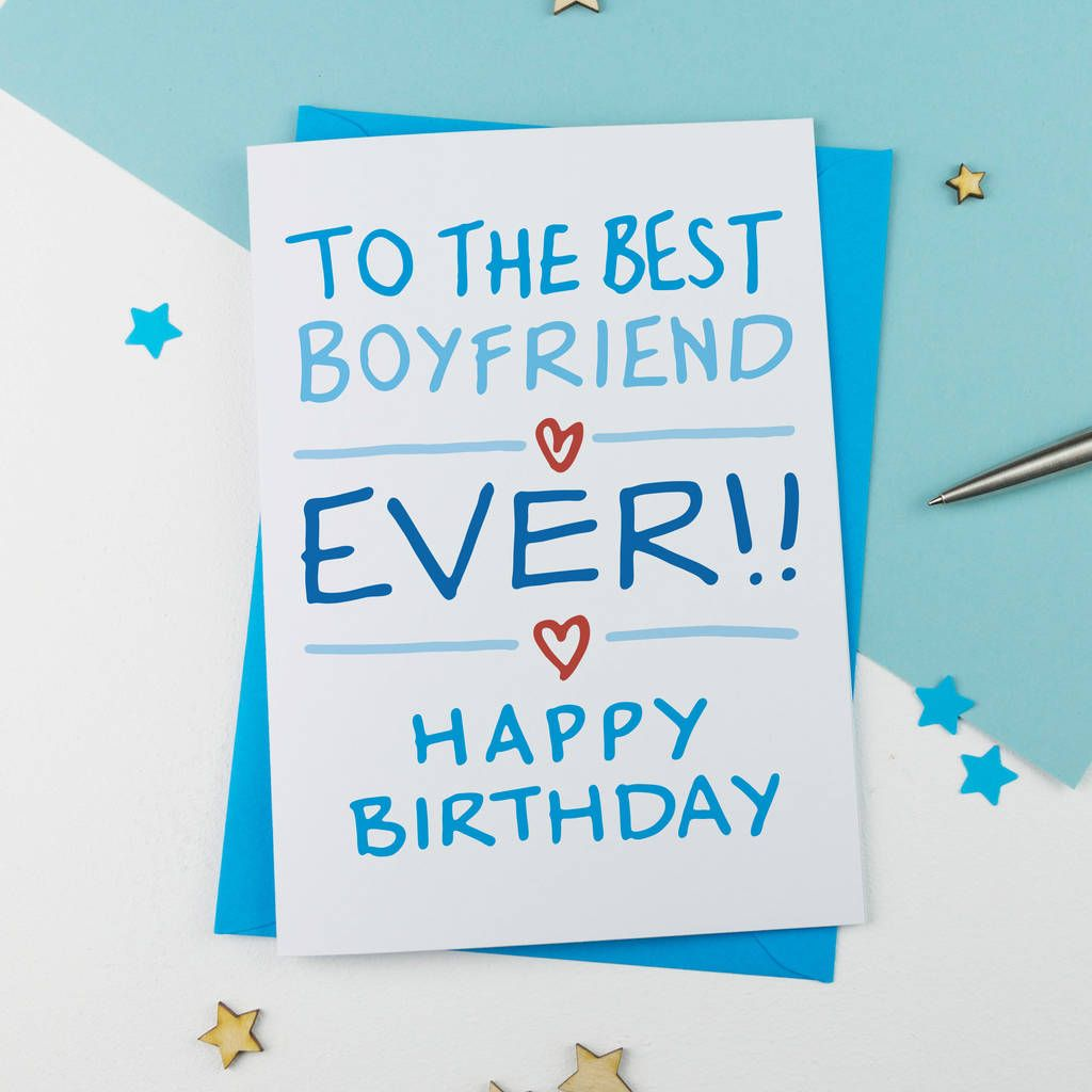 Boyfriend Birthday Card in 2020 Birthday cards for