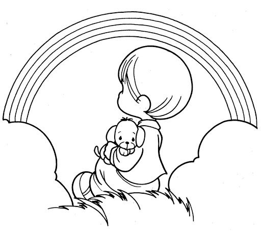 Rainbow coloring page | precious moments coloring | Pinterest ...