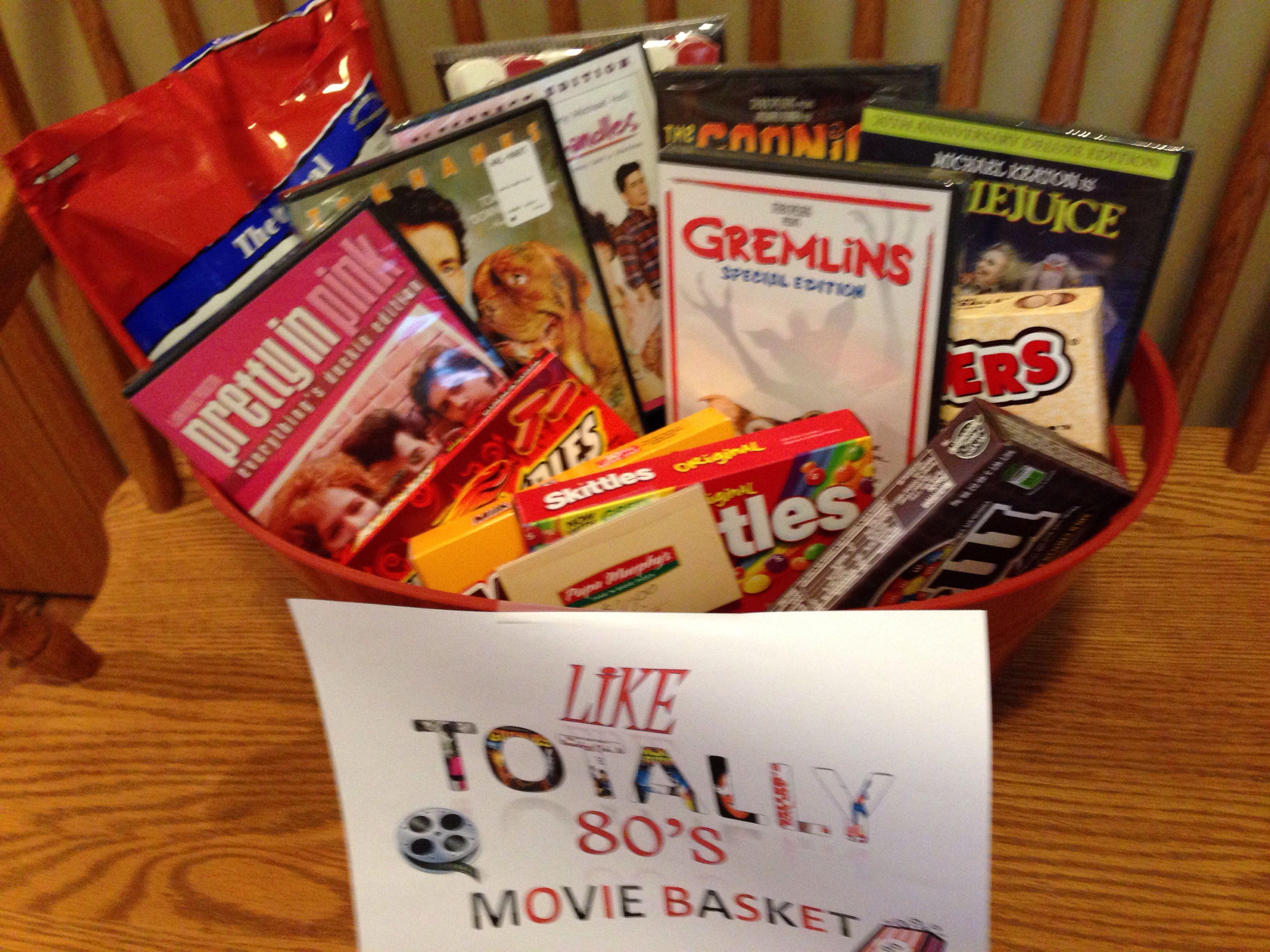 movie gift basket items