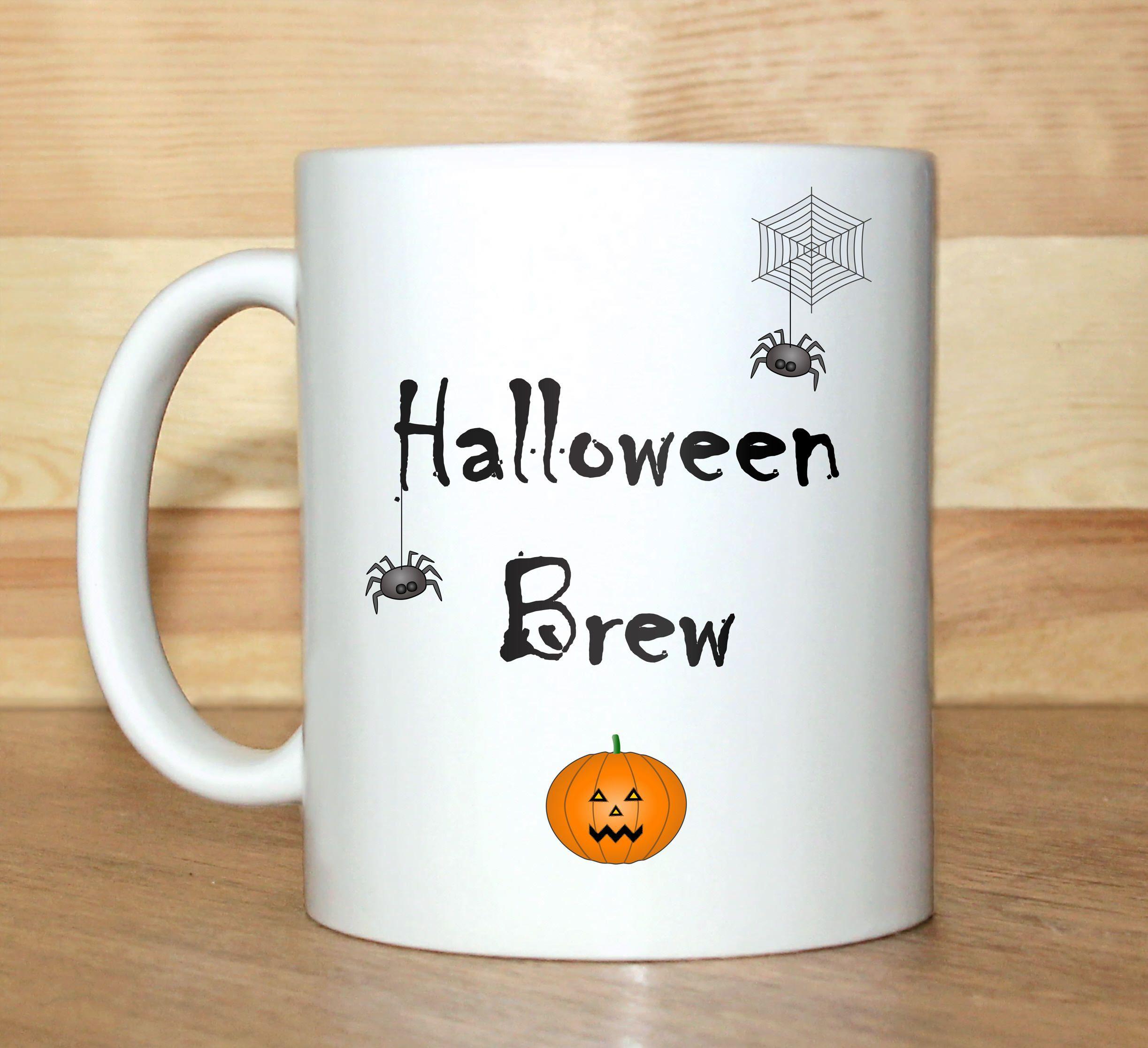 halloween mug, halloween decoration, halloween decor, halloween