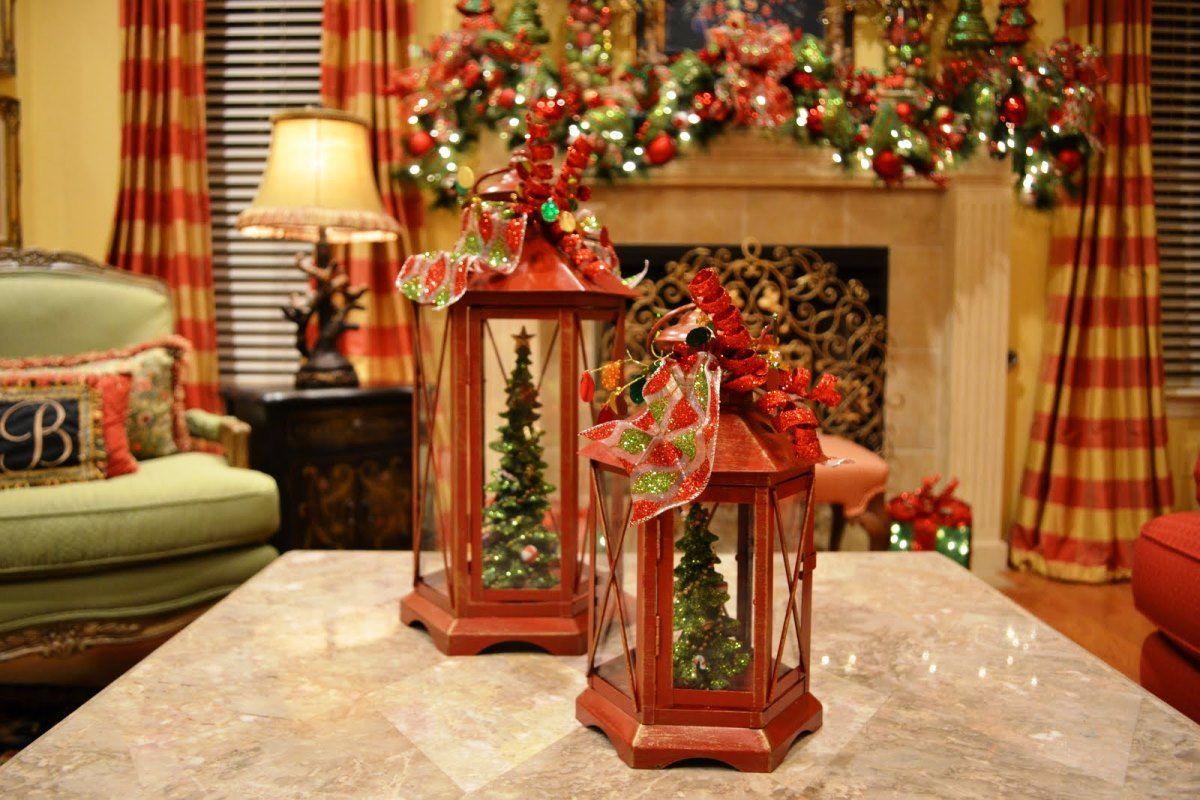 delectable elegant christmas lanterns decorating for indoors view - Elegant Indoor Christmas Decorations