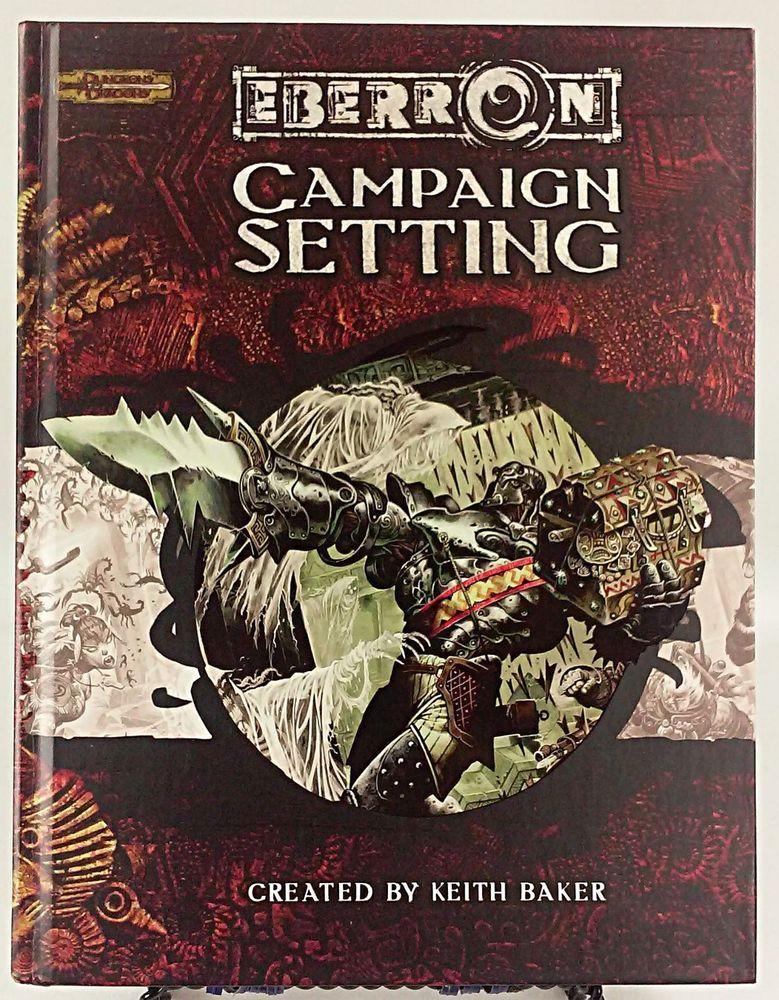 Eberron Campaign Setting - Dungeons & Dragons - D&D - 3.0/3.5 WotC Hardcover #WotC