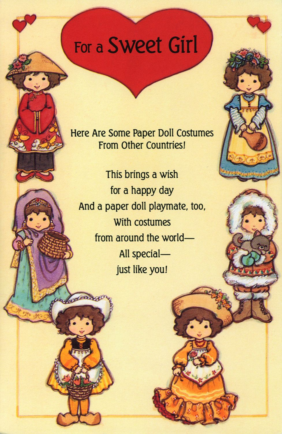 For A Sweet Girl Paper Doll Costumes From Other Countries 1 Of