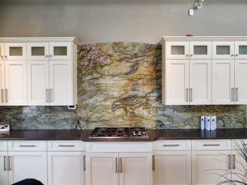 Marmol Export Usa White Fusion Granite Kitchen Backsplash Bold
