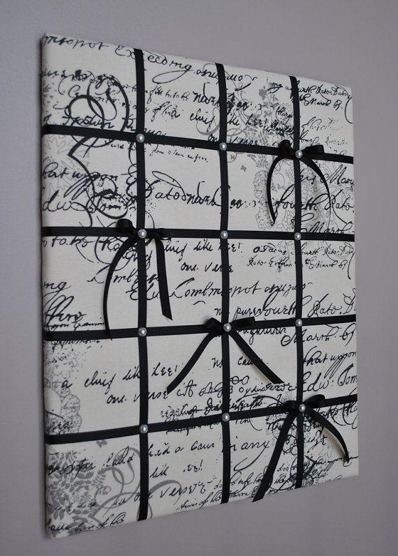 Memo Board Memory Board Vision Board Fabric Memo Board French Cool Padded Memo Board