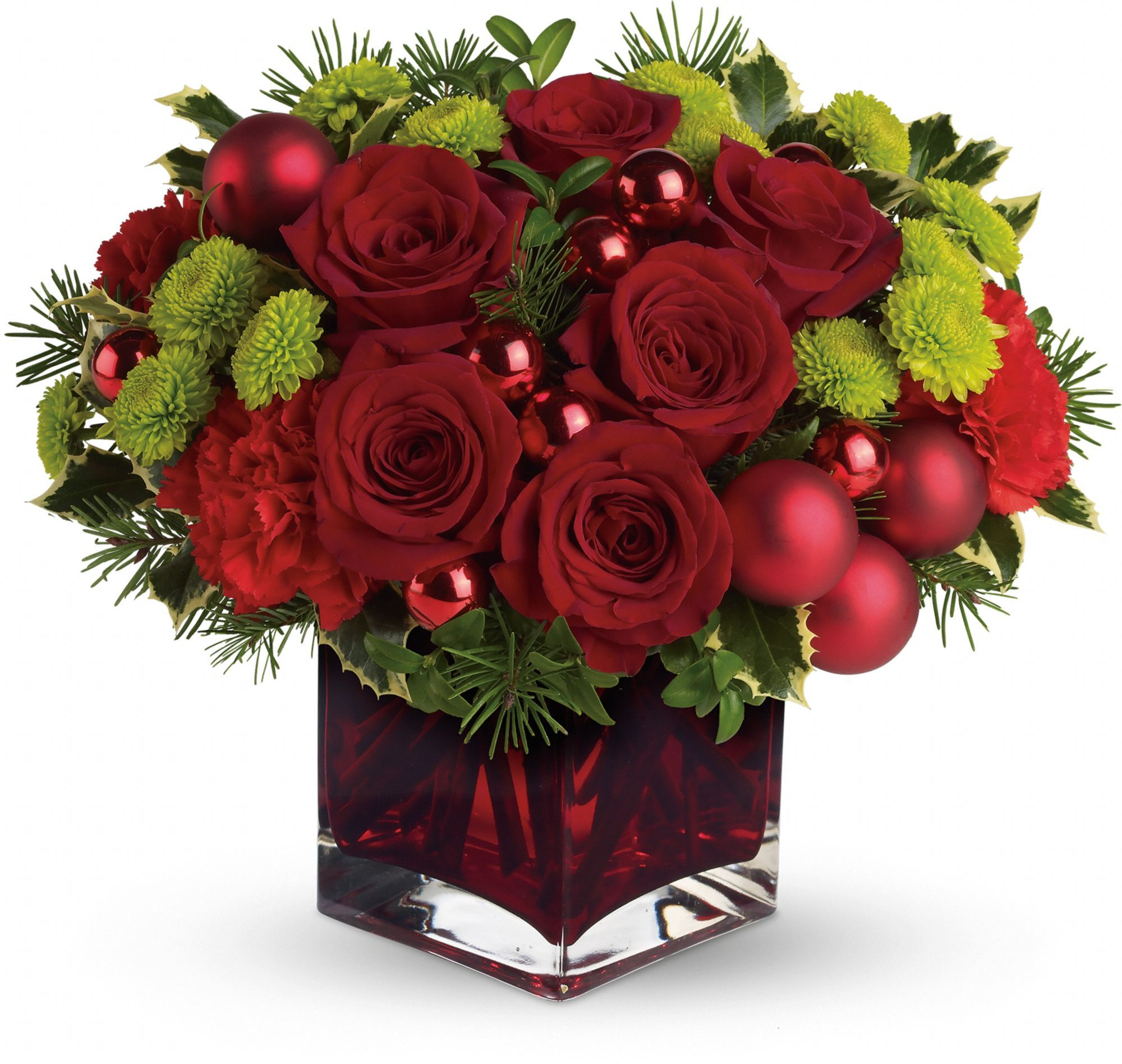 Teleflora's Merry Red christmas ornaments, Christmas