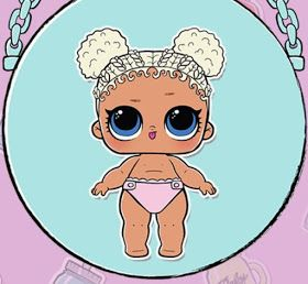 Lil Flower Child из серии 3 кукол Лол Сюрприз сестрички ...