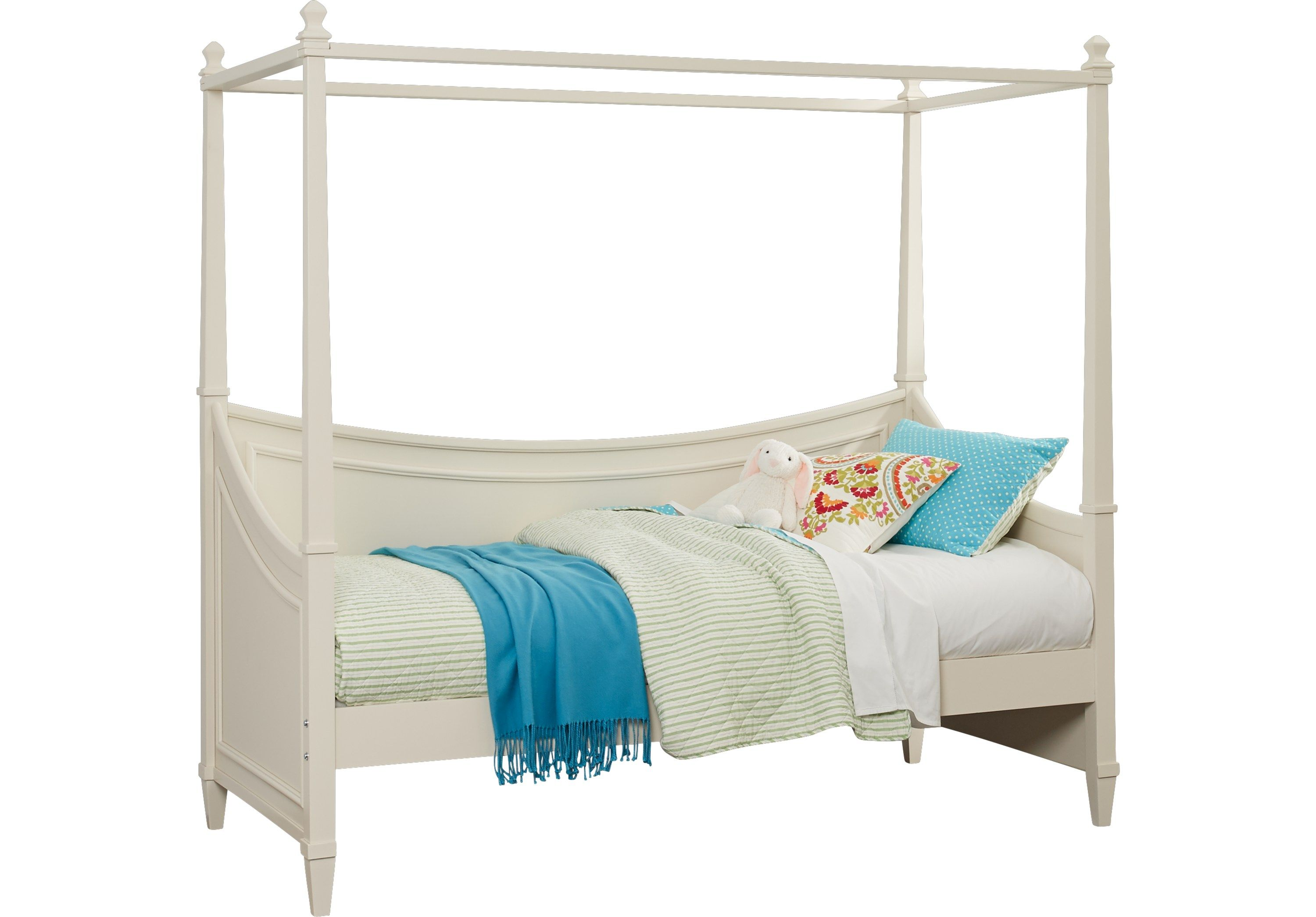 Jaclyn Place Ivory 2 Pc Canopy Daybed Daybeds Light Wood