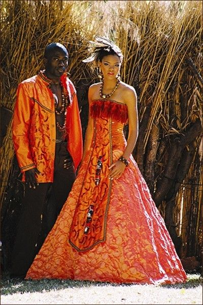 17 beautiful african wedding dresses orange jacket gods grace and godsgraceweddingsspot this is sooo unique the colors are brilliant his orange jacket how sharp cool and her dress priceless junglespirit Images