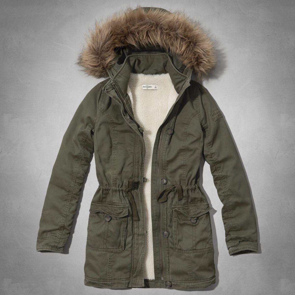 Girls Sherpa Lined Parka Girls Outerwear Abercrombiekids Com Outerwear Jackets Girls Parka Kids Outfits [ 1200 x 1200 Pixel ]