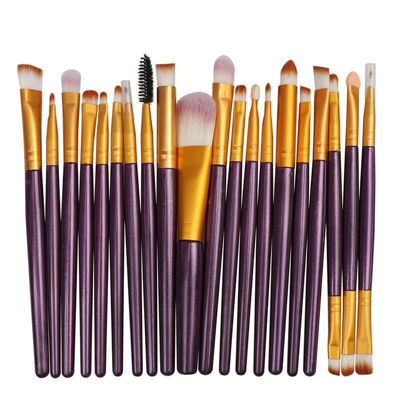 Photo of La Milee 20/5Pcs Makeup Brushes Set Eye Shadow Foundation Powder Eyeliner Eyelash Lip Make Up Brush Cosmetic Beauty Tool Kit Hot – shua-20-ZJ