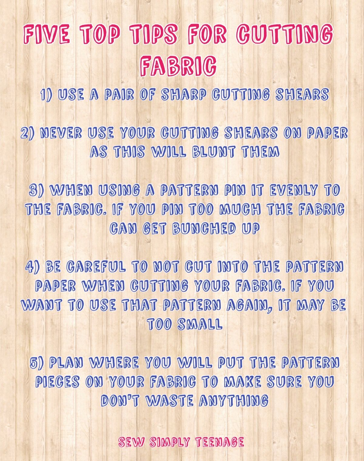 Cutting out is the most important part of sewing, so here are a few tips to help you out.