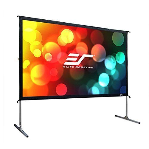 Elite 120 Inch 16 9 Foldable Frame Indoor And Outdoor Projection Movie Screen Outdoor Projector Screens Outdoor Projection Screen Movie Projector Screen