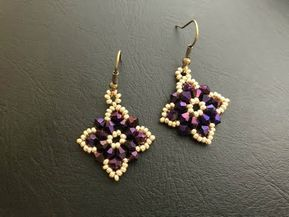 Simple Bicone Beaded Earrings.How to make beaded earrings DIY Earrings - YouTube #beads