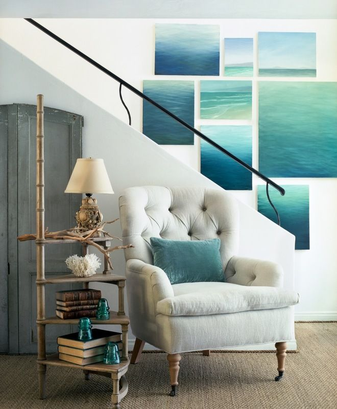 Beach coastal foyer giannetti home dering hall design connect in partnership with elle decor Pinterest home decor hall