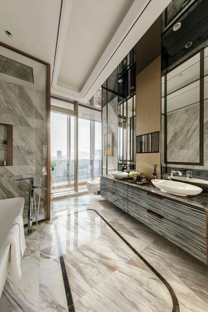 ▷ 1001 + idées pour créer une salle de bain nature Plafond blanc