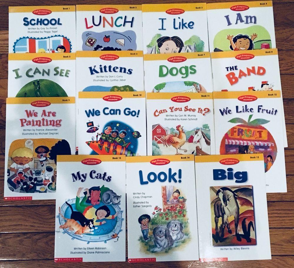 Lot 15 Scholastic High Frequency Readers Set 1 15 School Lunch I Am I Like Dog School Scholastic I Like Dogs