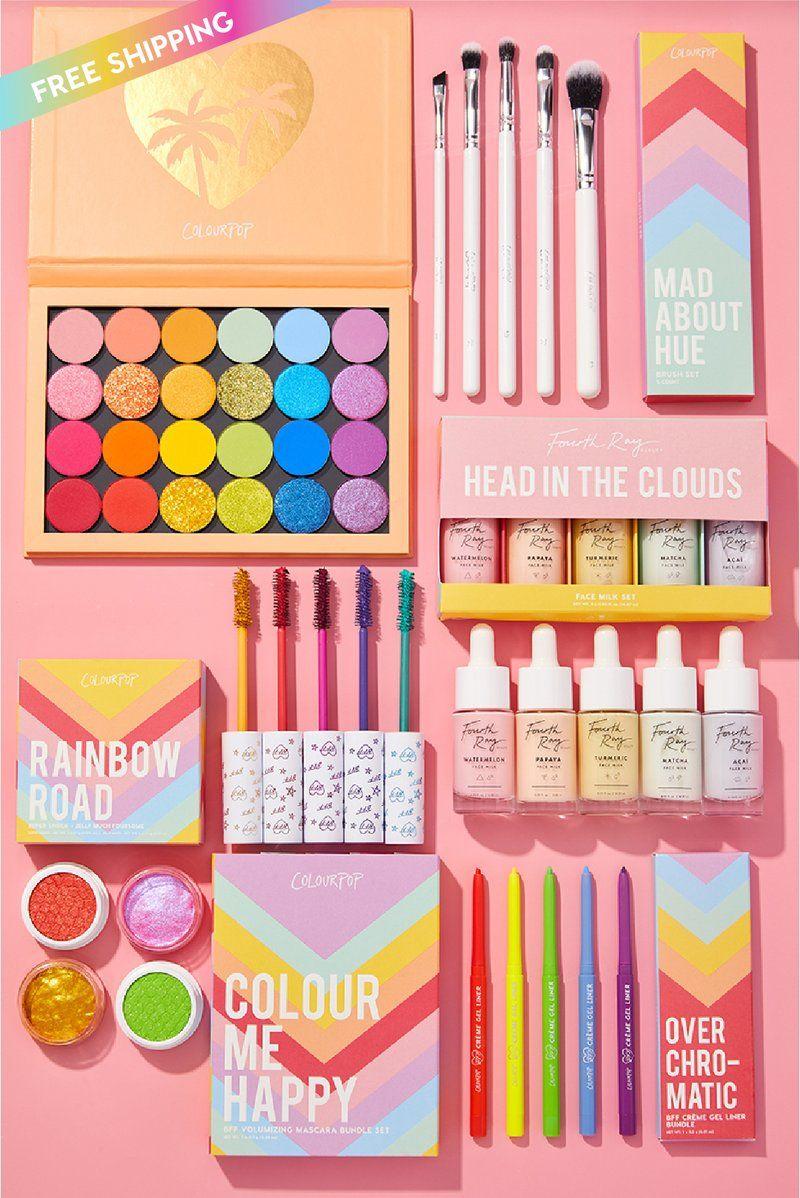 End Of The Rainbow Collection Set Colourpop Colourpop Rainbow