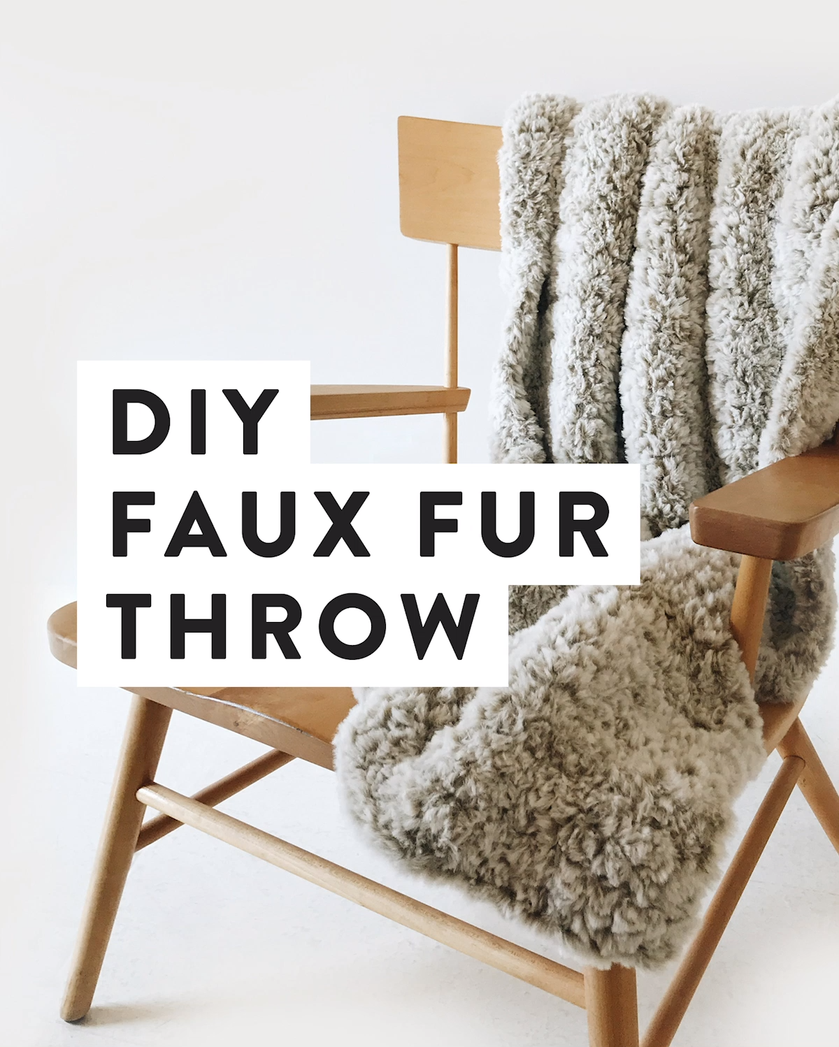 Photo of Crochet Faux Fur Throw Blanket